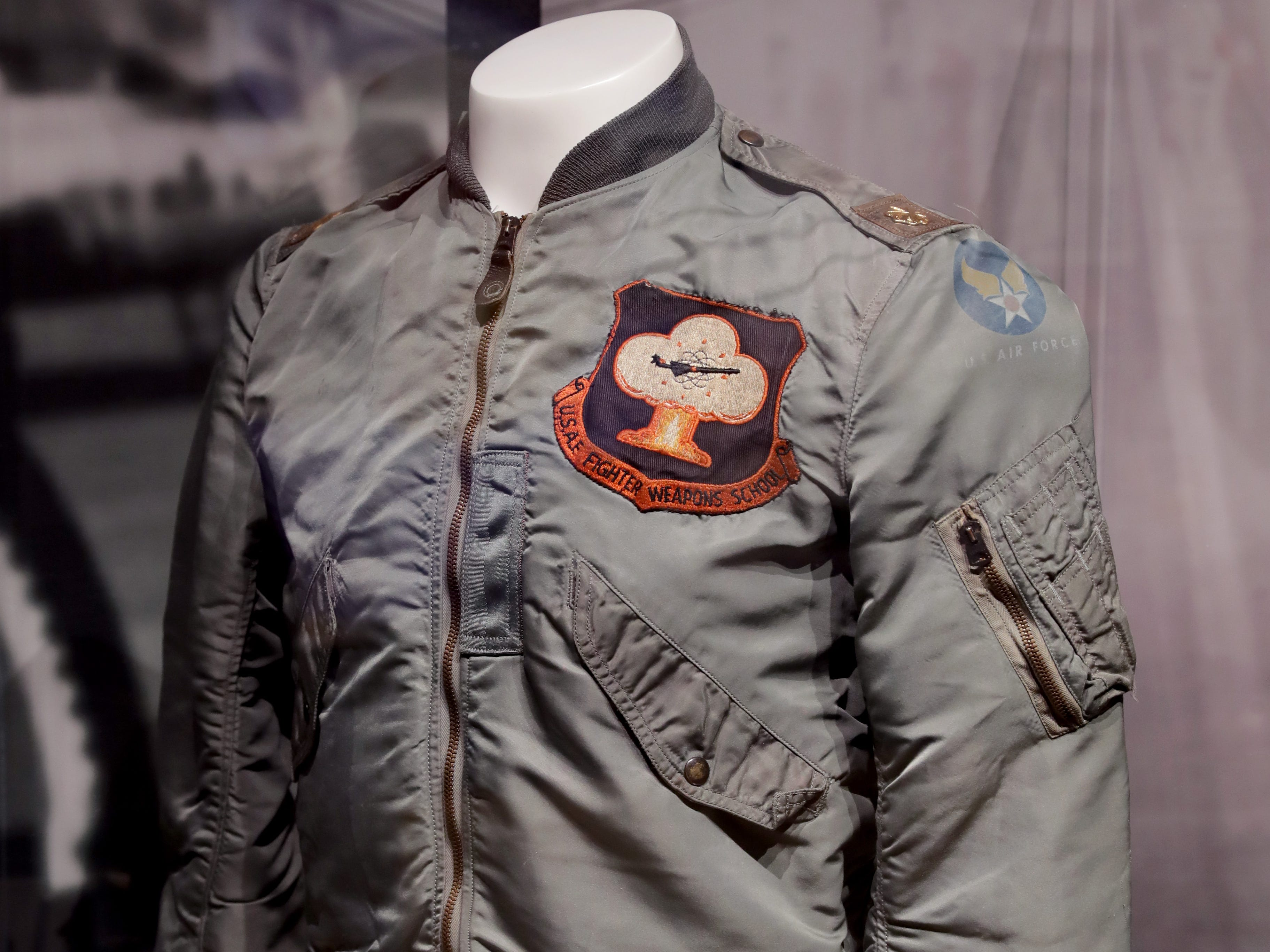 This U.S. Air Force flight jacket worn by astronaut Frank Borman is part of a new exhibit at the EAA AirVenture Museum in Oshkosh.