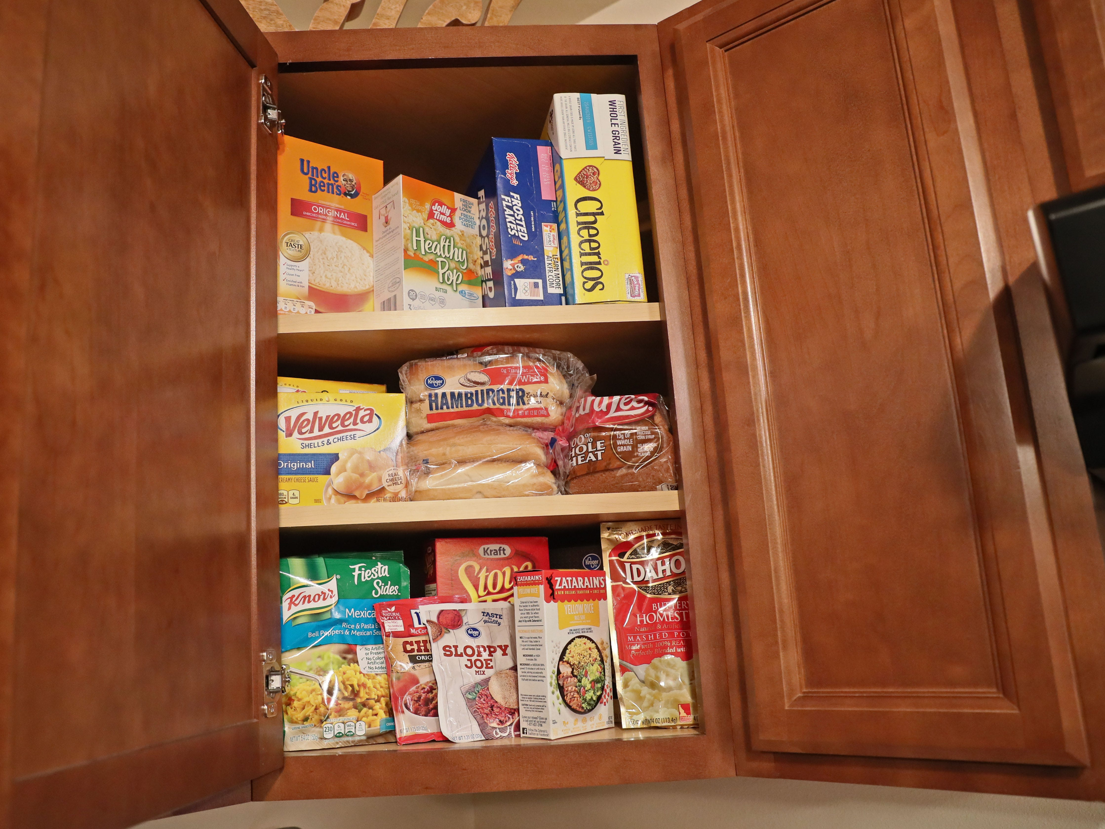 The cupboards were stocked.