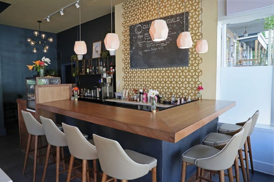 Celesta, a small vegan restaurant at 1978 N. Farwell Ave., has an inviting bar and dining room.
