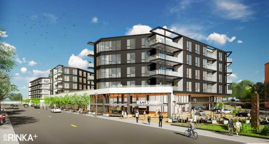 A Bay View apartment development has again been downsized, but is still drawing opposition.  An earlier version (shown) called for two buildings with 205 units. A rendering hasn't yet been produced for the latest version.