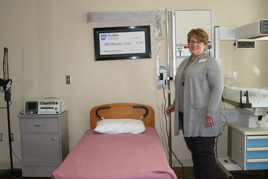 """Dr. Julia Gist, dean of the School of Health Sciences at Arkansas State University-Mountain Home, was notified last month that the school will receive a $130,302 grant from the Blue & You Foundation through Arkansas Blue Cross and Blue Shield. Last year the department received $63,296 which was used to purchase """"Sim Mom,"""" a high-tech manikin that is used in birthing simulations for nursing students."""