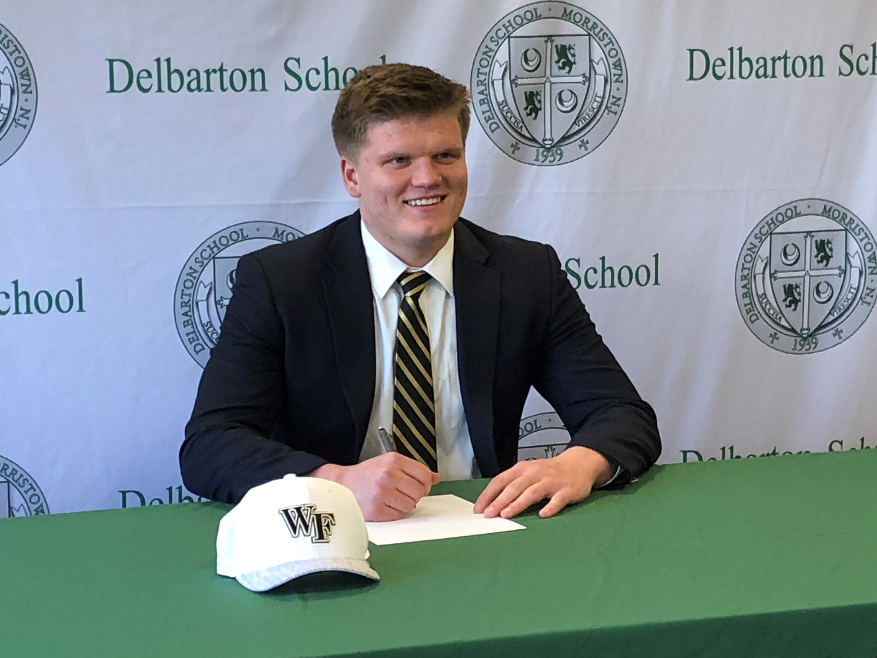 Delbarton senior Will Smart signed a National Letter of Intent with Wake Forest football on Wednesday.