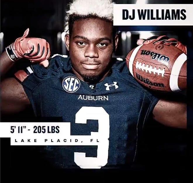 DJ Williams, running back coming to Auburn football in its 2019 recruiting class.