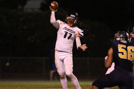 Randall Johnson threw for 2,832 yards and 28 touchdowns last season at Reedley College in California.