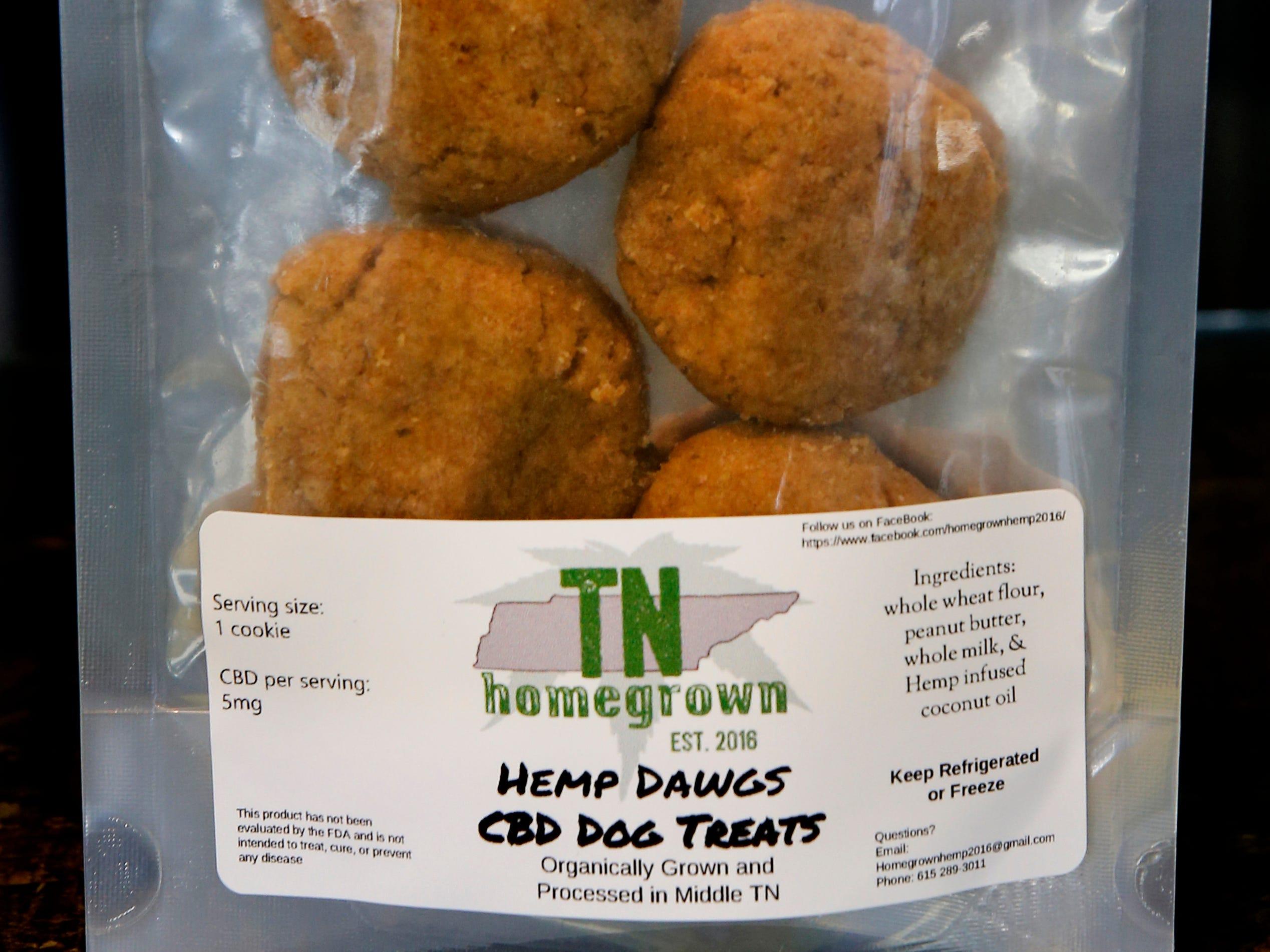 CBD dog treats from Frog Brigade Farmacy, in Murfreesboro, on Wednesday, Dec. 19, 2018.