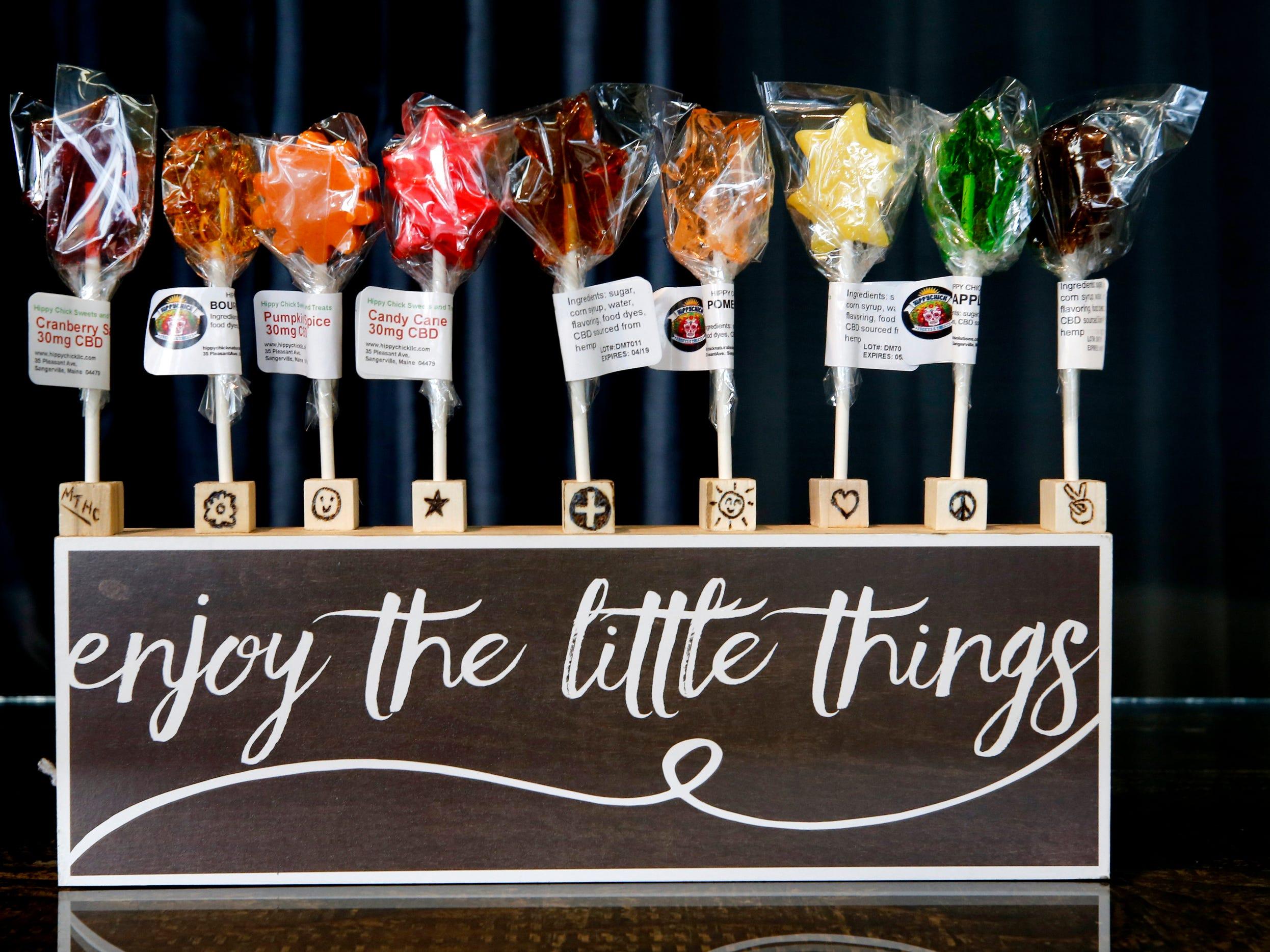 CBD lollipops from Frog Brigade Farmacy on Wednesday, Dec. 19, 2018.