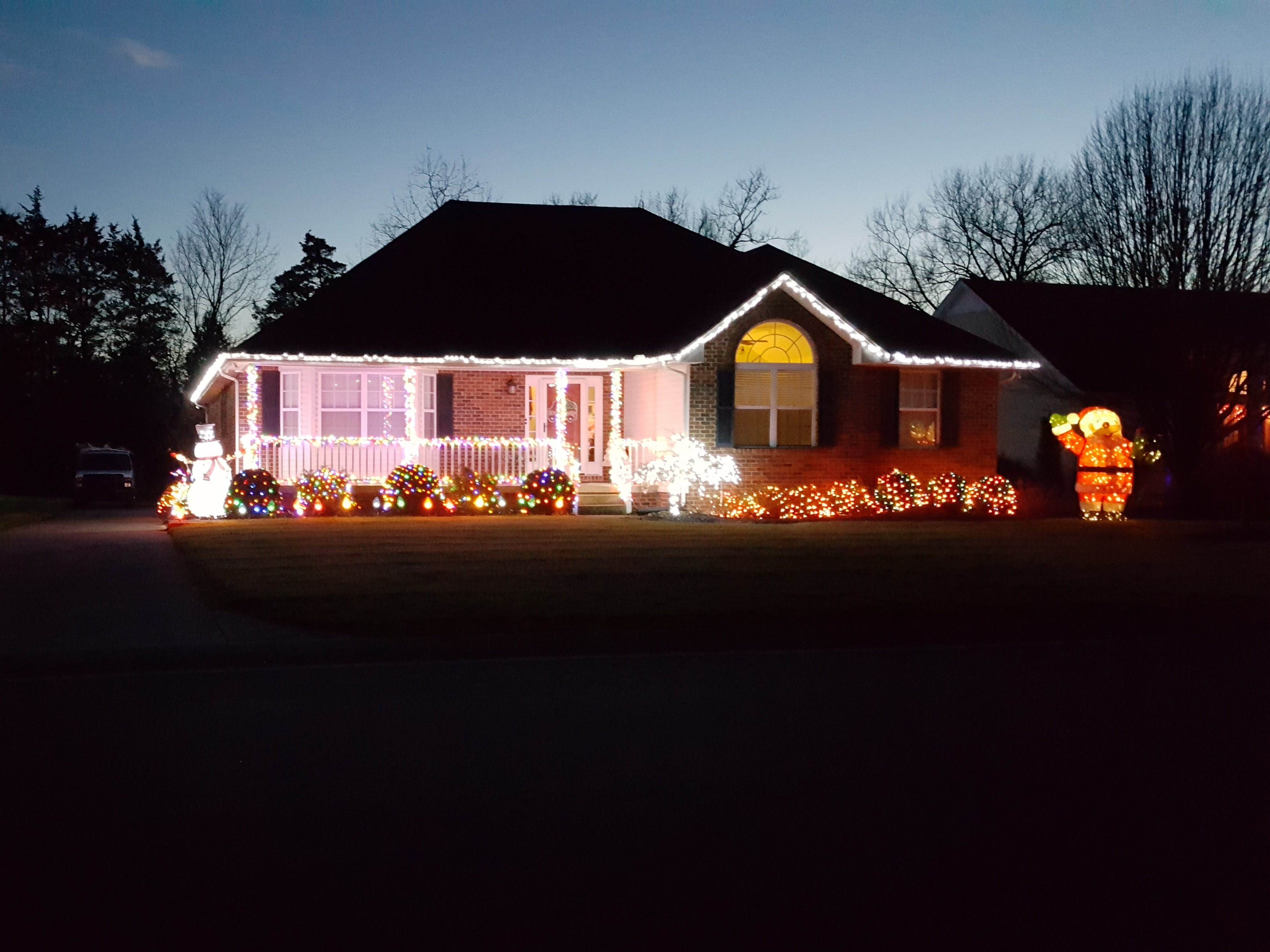 The home of Brian and Lisa Hollingsworth on Secretariat Drive in Mt. Juliet is decorated with Christmas lights.