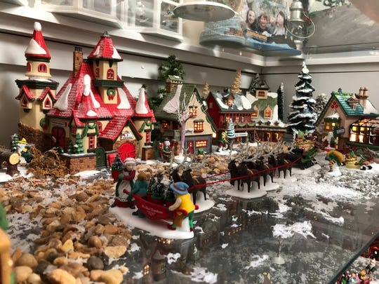 Dept 56 North Pole Village scene at the Edlin home.
