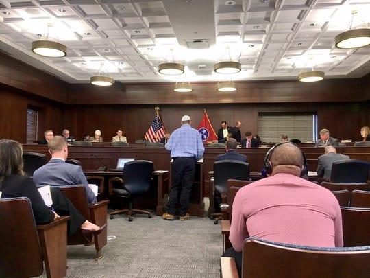 Edwin Steakley speaks before a legislative committee Dec. 18.