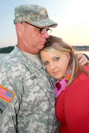 """The VA cut Master Sergeant Timothy Goad and his wife, Sarah Goad, from its caregiver program this year, citing that she was doing her """"spousal duty."""""""