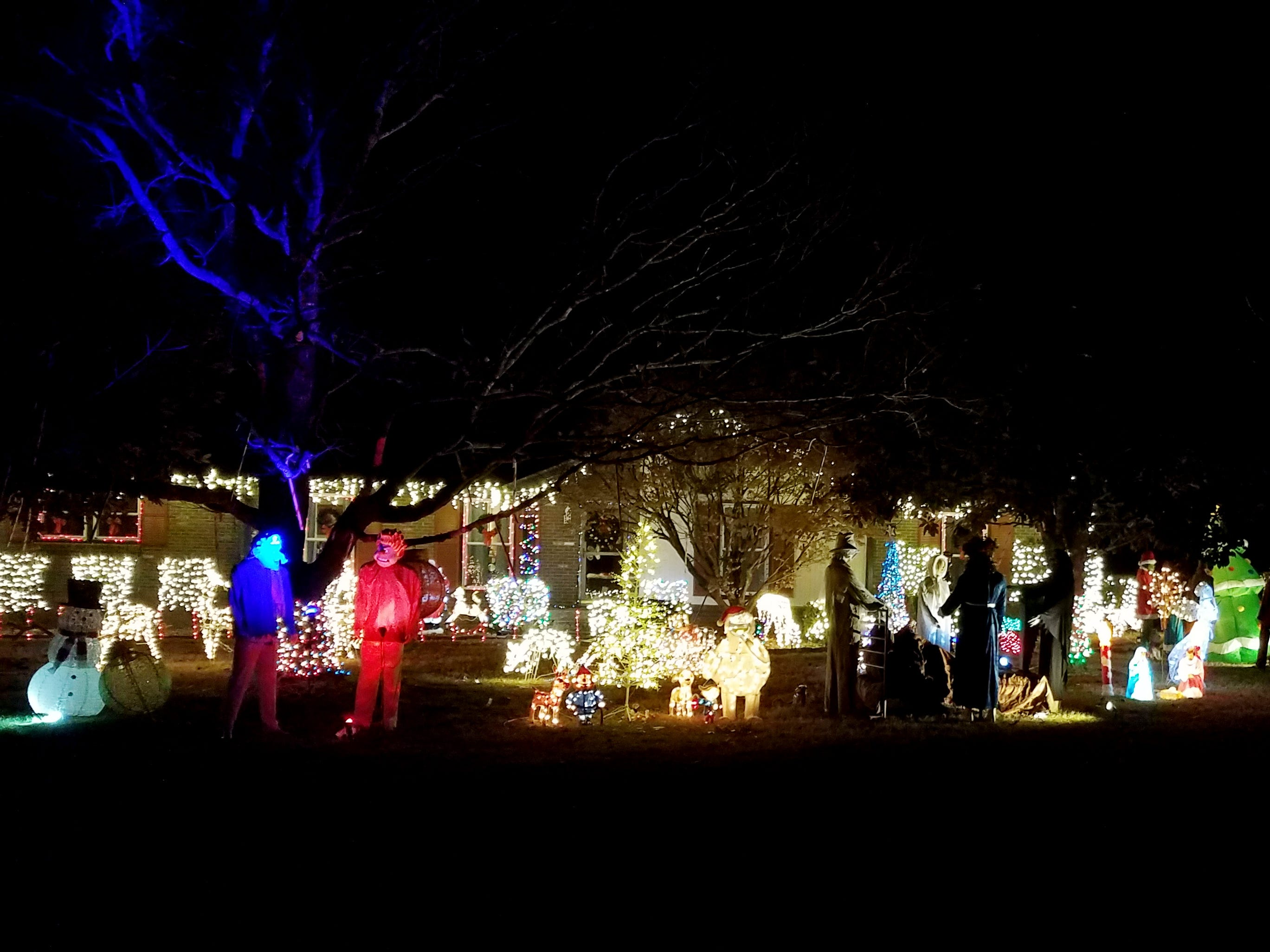 The home of Tim and Lisa Sam on Crafton Avenue in Franklin's Rebel Meadows subdivision is decorated with Christmas lights.