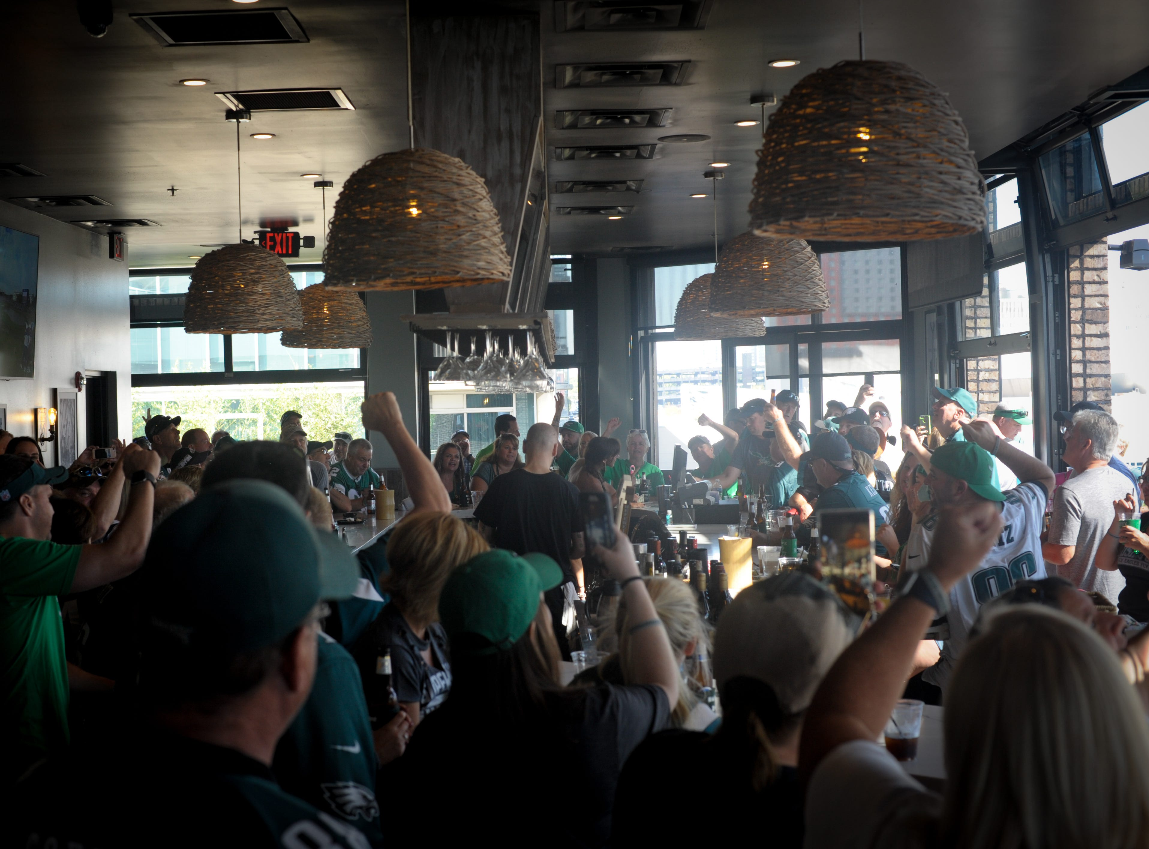 Eagles fans at The Diner in Nashville earlier this season.