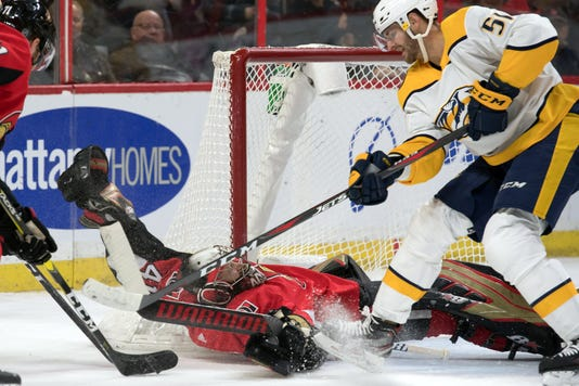 Nhl Nashville Predators At Ottawa Senators