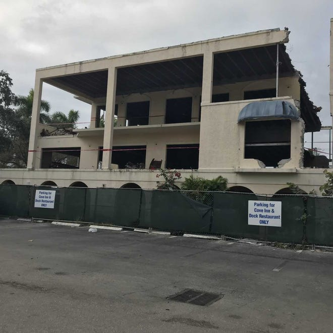 A backside view of the remodeling work done at 801 12th Ave. S., which has been stopped by the city of Naples, on Nov. 27, 2018.