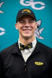 Luke Baker committed to playing football for the University of Southern Mississippi during National Signing Day on Wednesday, December 19, 2018, at Gulf Coast High School in Naples.