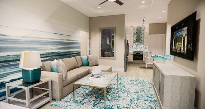 One of three models by Clive Daniel Home at SoCe Flats.