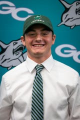 Adam Masterson committed to playing football for Stetson University during National Signing Day on Wednesday, December 19, 2018, at Gulf Coast High School in Naples.