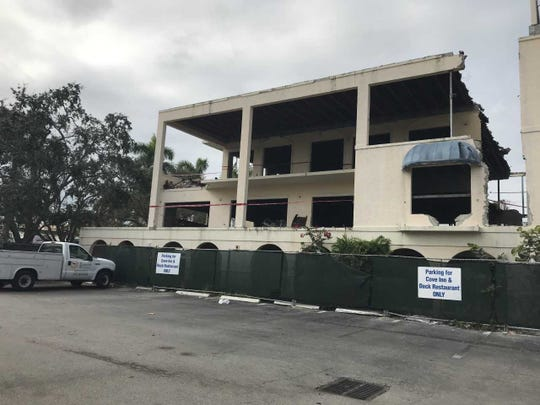A view of the demolition work done for the remodeling of a five-story building for the ultra-luxury project known as The Bay Club of Naples, on Nov. 27, 2018.