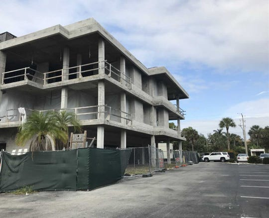The Bay Club of Naples project at Eighth Street South and 12th Avenue South is at a standstill, on Nov. 27, 2018.