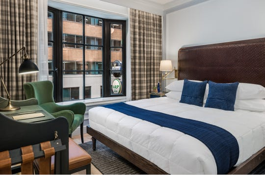 Premium King Bedroom at Merrion Row Hotel and Public House.