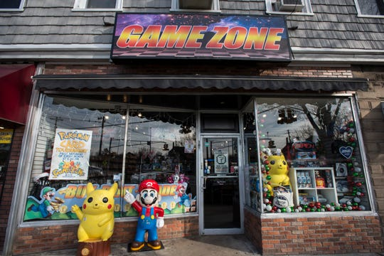 The exterior of the Game Zone in Hillsdale on Wednesday December 19, 2018.