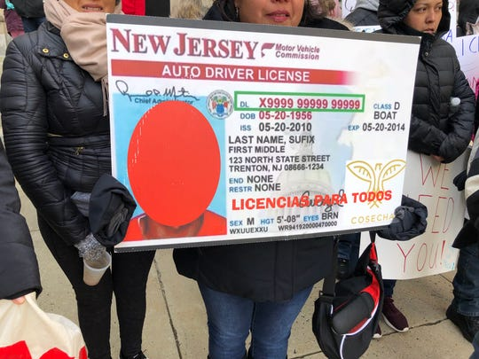 Protesters gathered for a December 2018 rally at the Statehouse, demanding driver's licenses for undocumented immigrants.