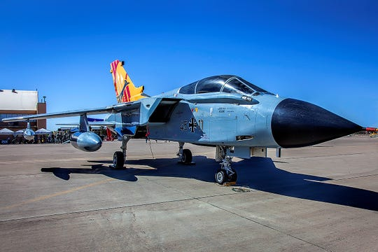 This Tornado jet has been donated to the New Mexico Museum of Space History by the German Air Force. The aircraft will be towed to the Otero County Fairgrounds Saturday, Jan. 12, 2019, for temporary display then towed to its new home at the Space Museum Tuesday.