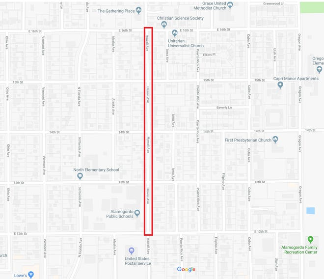 There will be an emergency water outage on Hawaii Ave until 5 p.m. as City crews repair a water main break.