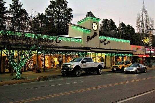 Brunell's department store in midtown Ruidoso always dresses for Christmas.