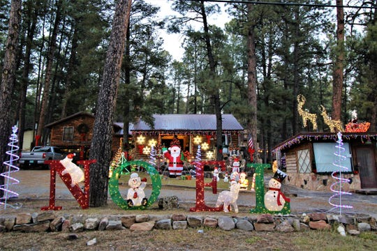 Upper Canyon offered a landscape of  holiday decorations.