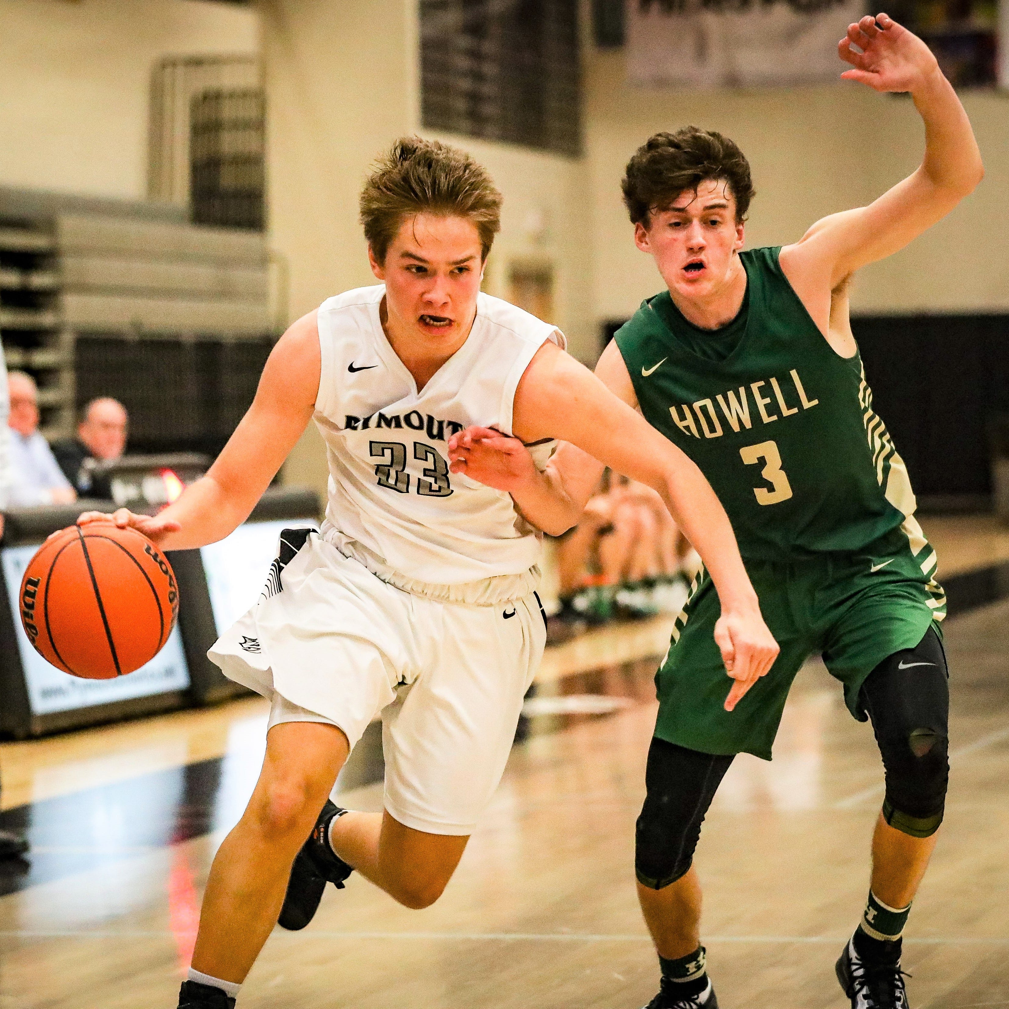 Howell cashes in with late French three-pointer to edge Plymouth