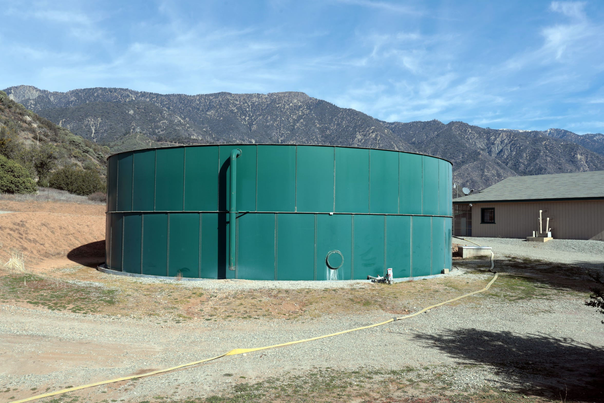 The water tank at Banning Heights Mutual Water Company.
