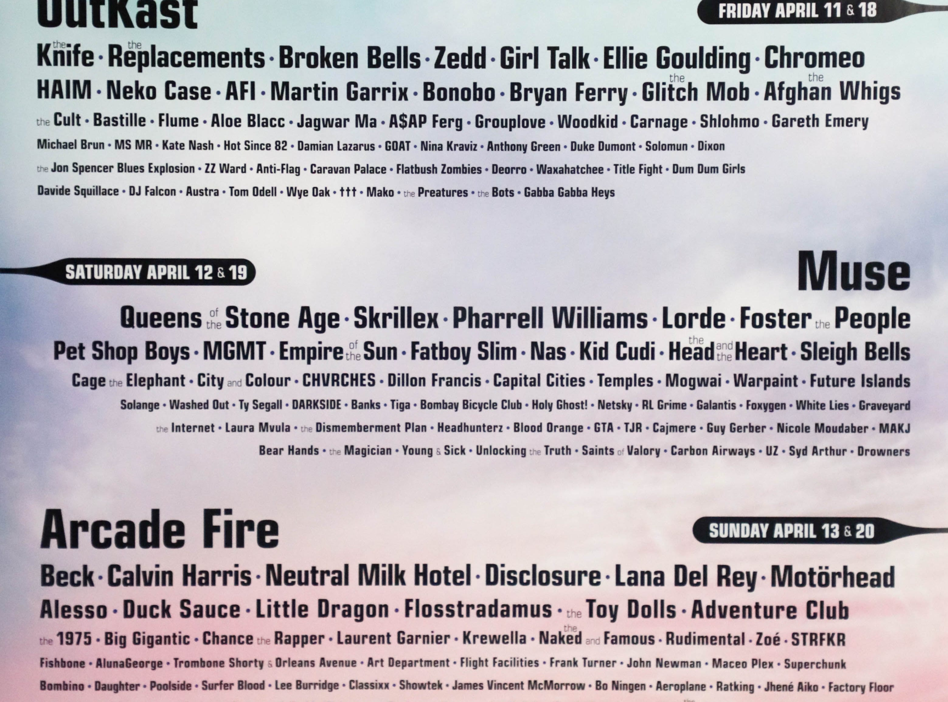 Coachella Valley Music and Arts Festival poster 2014