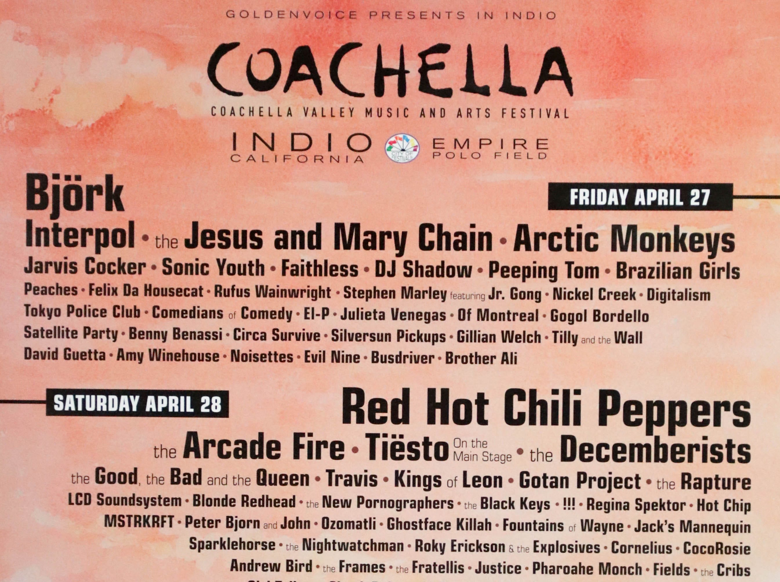 Coachella Valley Music and Arts Festival poster 2007