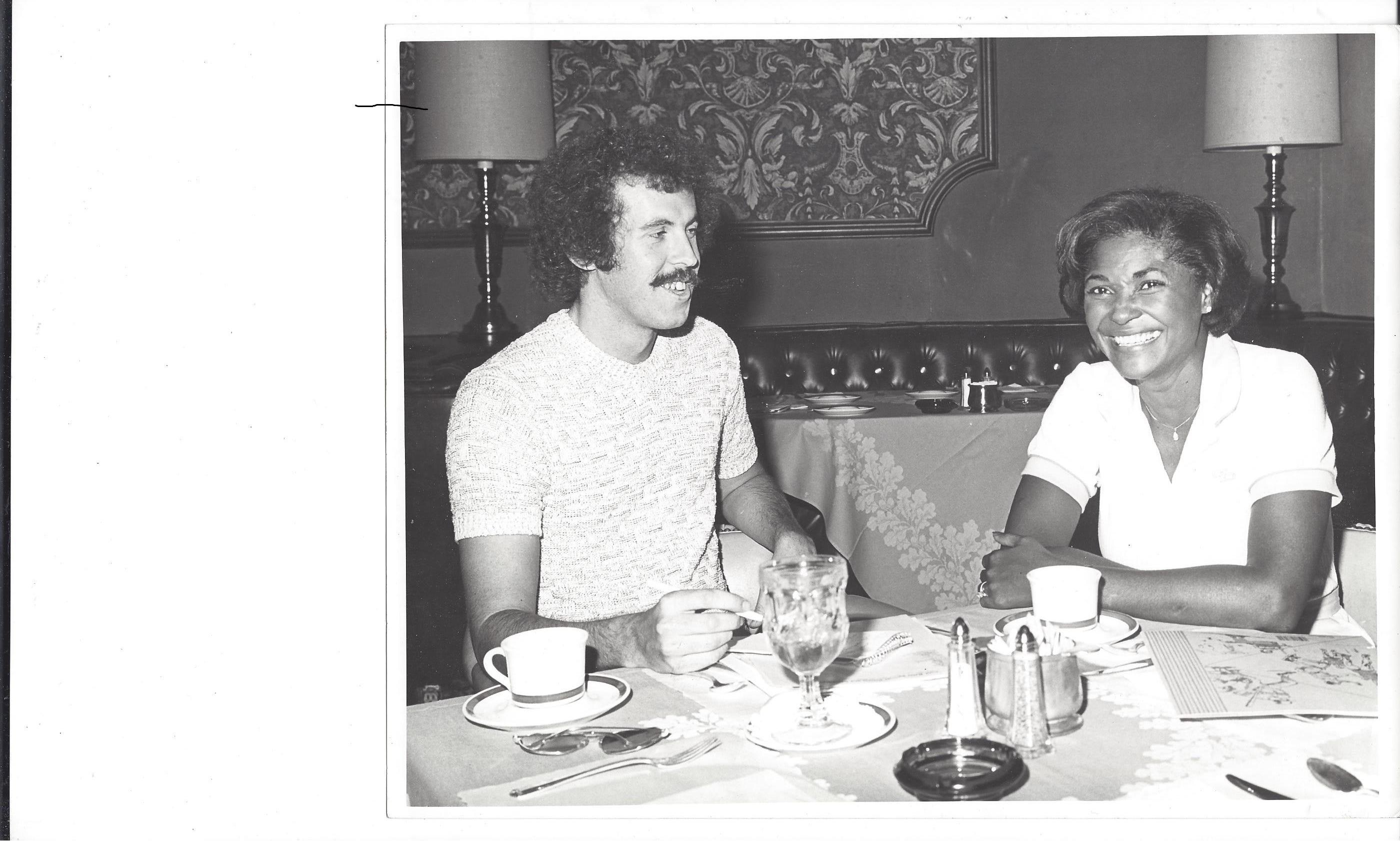 Desert Sun entertainment writer Bruce Fessier interviews Nancy Wilson at the Palm Springs Riviera Resort circa 1980.