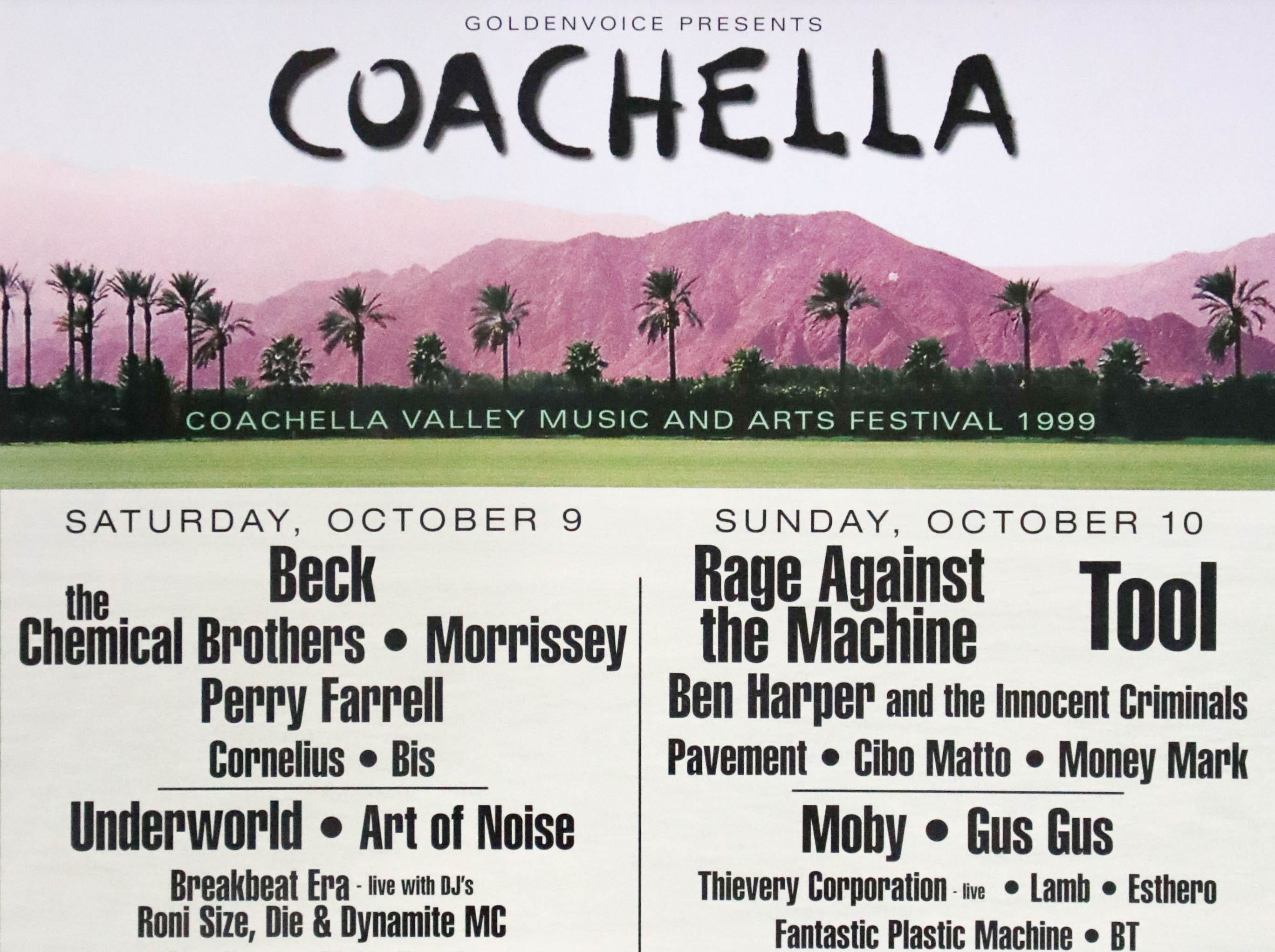 Coachella Valley Music and Arts Festival poster 1999