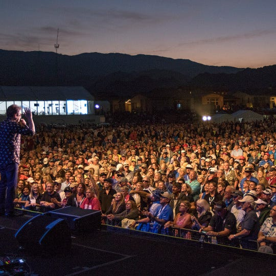 The two-night concert series is held at the PGA WEST driving range.