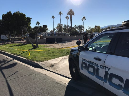 Police reported to a body found on Dec. 19 in Cathedral City adjacent to the Oasis RV Park