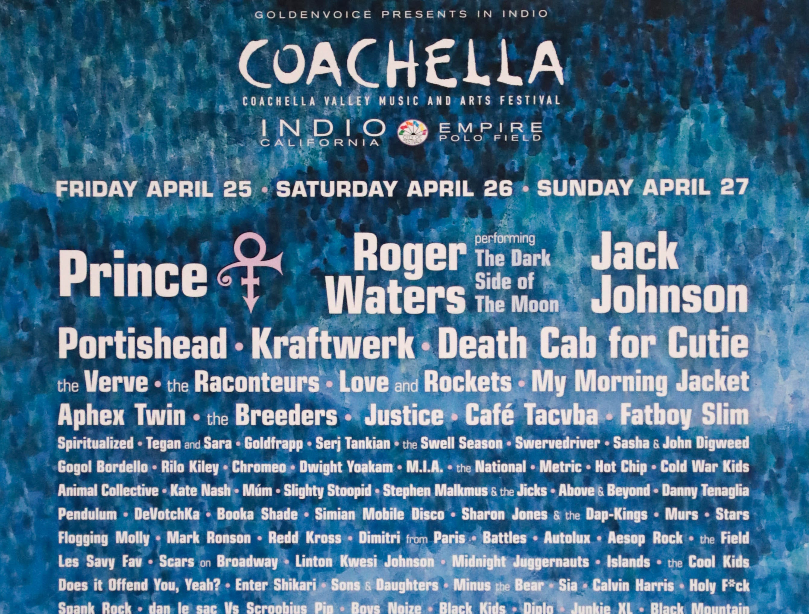 Coachella Valley Music and Arts Festival poster 2008