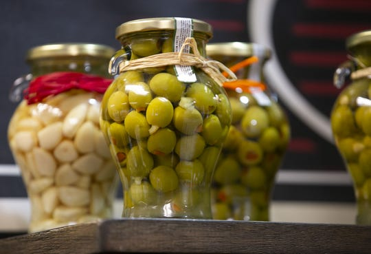 Olives at Outrageous Olive Oils & Vinegars in Old Town Scottsdale.