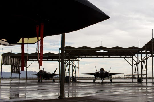 F-35 jets sit at Luke Air Force Base in Glendale.