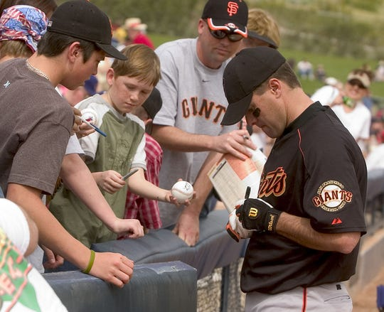 The casual nature of spring training lends itself to the hunt for autographs.