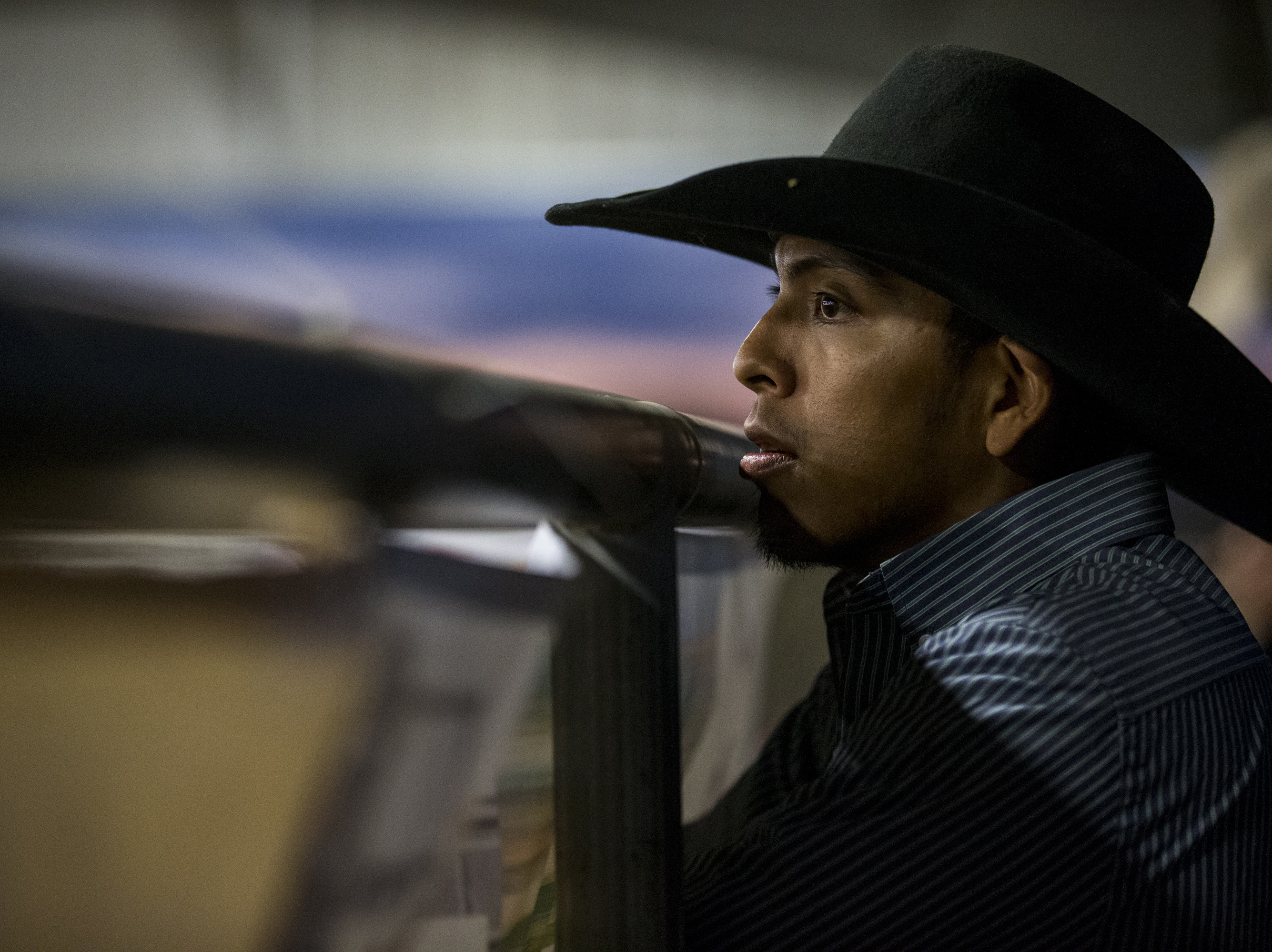 Jalen Joaquin gets ready during the Gilbert Days Rodeo on Saturday, Nov. 17, 2018, in Gilbert, Ariz.