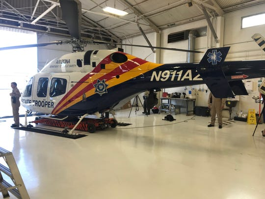 Bell 429 helicopter, Ranger 1, is DPS's newest helicopter that provides hoist technology for rescue missions. In November it allowed rescue crews to save a 52-year-old man stranded on a mountain north of Sedona.