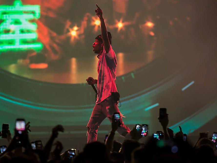 Travis Scott performs at Talking Stick Resort Arena on Tuesday, Dec. 18 in Phoenix.
