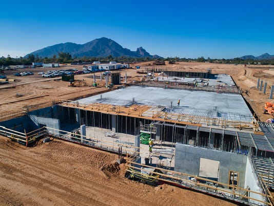 Aerial view of Ritz-Carlton, Paradise Valley construction site