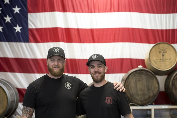 A portrait of Jason (left) and Josh Duren, Dec. 5, 2018, at Cider Corps, 31 S. Robson, Mesa.