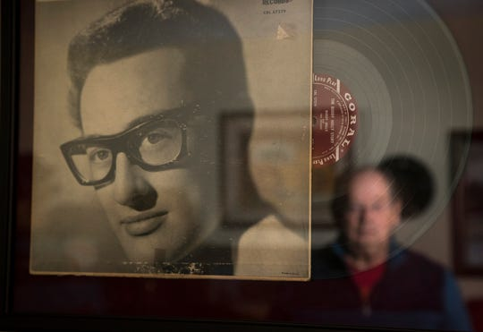 Mike Evans talks about Buddy Holly, December 19, 2018, at his Sun City West home. Evans attended the Winter Dance Party in Clear Lake, Iowa, on Feb. 2, 1959, the final concert before plane crash (Feb. 3) killing Buddy Holly, Ritchie Valens, Big Bopper.