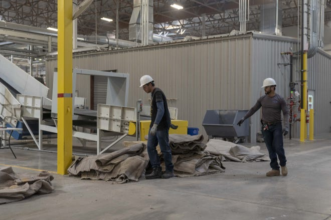 Recycling carpet can be difficult because it is hard to break down and separate the materials.