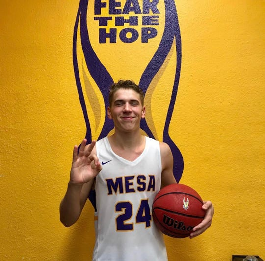 Zach Hobbs of Mesa is the Boys High School Athlete of the Week.